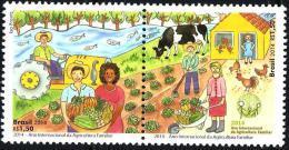 BRAZIL 2014  -   INTERNATIONAL YEAR OF FAMILY FARMING -  ST 2v  MINT - Brazil