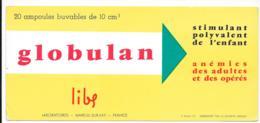 Buvard Pharmaceutique - Globulan - Produits Pharmaceutiques