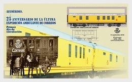 Spain 2018 - 25th Anniv. Of The Last Correos Mobile Expedition FDC - 1931-Tegenwoordig: 2de Rep. - ...Juan Carlos I