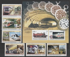 Cuba 2008 Kuba Mi 5037-5042 + Block 236(5043-5044) Subways / U-Bahnen **/MNH - Trains