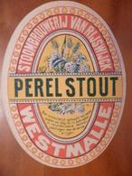 étiquette Ancienne Brasserie Stoombrouwerij Van Rijswijck  PEREL STOUT Westmalle - Beer