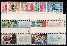Dahomey - Année 1961 N** : YV 159 à 169 + PA 20 N** , 4 Petits Coins Datés - Bénin – Dahomey (1960-...)