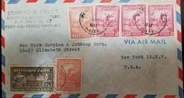 O) 1947 HAITI, COL. FRANCOIS CAPOIS SCT 372 -SCT 373, WOMAN WAR INVALIDS AND RUINED BUILDINGS SCT RA4, EDMOND D. SCUTT, - Haiti