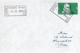 Brief  Roggwil-Wynau - Bern  (Bahnstempel)          1948 - Ferrocarril