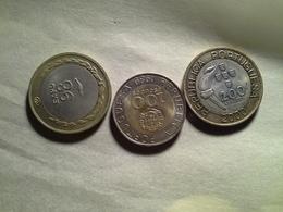 3 Coin  100, 200 Escudos - Portugal