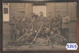 9869  CARTE PHOTO   MITAU MINENWERFESCHULE8 PFINGSTEN  1917 RES.INFTR.REGT. 59 II.B. - Lituania