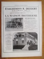 1926 - Construction Maison Isotherme R DECOURT Ateliers à Ham (Somme)   - Page Originale ARCHITECTURE INDUSTRIELLE - Architecture