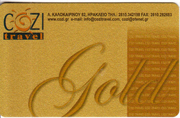 GREECE - Cozi Travel, Gold Member Card, Sample - Autres Collections