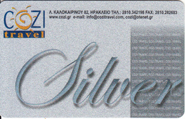 GREECE - Cozi Travel, Silver Member Card, Sample - Autres Collections