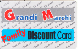 GREECE - Grandi Marchi(Corfu Island), Member Card, Sample - Autres Collections