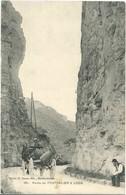 Cpa Route De PONTARLIER à LODS (animée, Attelage) N° 381 Cliché Ch. Simon édit. Maiche Ornans - Pontarlier
