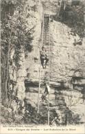 Cpa 1912 - Gorges Du Doubs - Les Echelles De La Mort (animée) - N° 312 édit. Gaillard Prêtre, Besançon - France