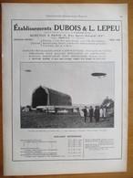 1926  Hangar à Dirigeable Démontable  à Voultegon 1912 - Ets DUBOIS & LEPEU   - Page Originale ARCHITECTURE INDUSTRIELLE - Architecture
