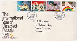 Great Britain Set On Used FDC - Handicaps