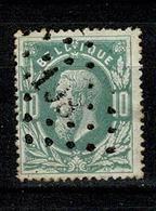 Belg.  30  Pt 198  Jodoigne COBA + 3 - 1869-1883 Léopold II