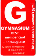 GREECE - Gymnasium(Gym), Member Card, Unused - Autres Collections