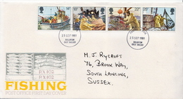 Great Britain Set On Used FDC - Jobs
