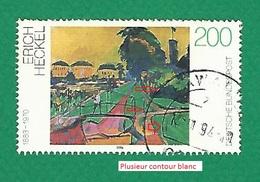 * 1994 N° 1579 PAYSAGE PRES DE DRESDE PEINTURE ERICH HECKEL   OBLITÉRÉ - BRD