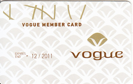GREECE - Vogue, Member Card, Exp.date 12/2011, Sample - Autres Collections