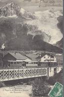 74 LES BOSSONS PONT PERRALOTAZ LIGNE SNCF A VOIE METRIQUE LE FAYET CHAMONIX MONT BLANC VALLORCINE LE CHATELARD SUISSE - Chamonix-Mont-Blanc