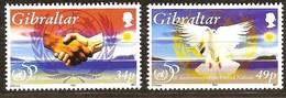 Gibraltar 1995 Yvertn° 744-745 *** MNH Cote 4 Euro Nations Unies - Gibraltar