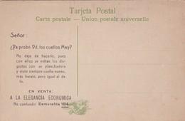 SEÑOR, USTED YA PROBO LOS CUELLOS MEY? PUBLICIDAD ADVERTISING CIRCA 1900s. CAÑON DEL RIO, CORDOBA. ARGENTINA-BLEUP - Reclame