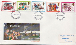 Great Britain Set On Used FDC - Christmas
