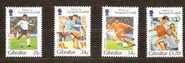 Gibraltar 1996 Yvertn° 768-771 *** MNH Cote 10 Euro Sport Football - Gibraltar