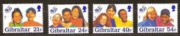Gibraltar 1996 Yvertn° 772-775 *** MNH Cote 7,50 Euro Unicef - Gibraltar