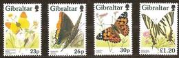 Gibraltar 1997 Yvertn° 802-805 *** MNH Cote 10 Euro Faune Et Flore Papillons Vlinders Butterflies - Gibraltar