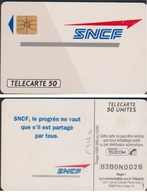 F313a TELECARTE SNCF 120 U RECTO LACQUE N° B2B0N0028  COTE 70€ - France