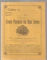 Cahier D'écolier Non écrit Offert Par La Grande Pharmacie Des Deux Sèvres G. QUEUILLE Pharmacien De 1 ère Classe - Protège-cahiers