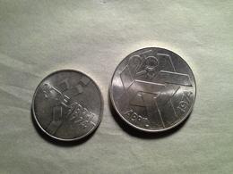 """100 Escudos, 250 Escudos  """" 25 De Abril 1974""""   Silver - Portugal"""
