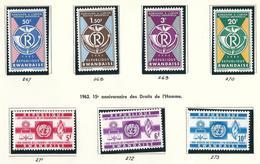 37/40 + 41/43  (7 W/v)  X X  Timbre Neuf / Postfris / MNH / O.C. 2,75€ - 1962-69: Nuevos