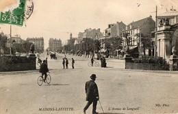 78. CPA. MAISONS LAFITTE. Avenue De Longueil. 1908. - Maisons-Laffitte