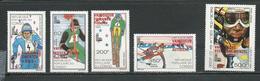 CONGO Scott C266-C270 Yvert PA264-PA268 (5) ** Cote 11,25 $ 1980 Surcharges - Congo - Brazzaville