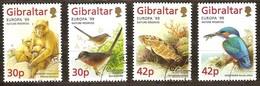Gibraltar 1999 Yvertn° 853-856 (o) Oblitéré Cote 8 Euro CEPT Europa Faune - Gibraltar