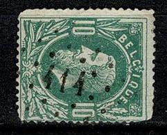 Belg.  30  Pt 414  Bruxelles (Rue De La Loi) COBA + 6 - 1869-1883 Leopold II