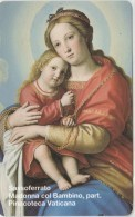 SCHEDA TELEFONICA NUOVA VATICANO SCV40 MADONNA COL BAMBINO - Vaticano