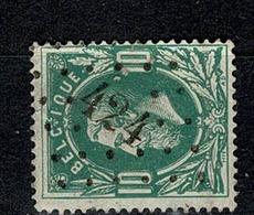 Belg.  30  Pt 424  Bruxelles (Lux) COBA + 3 - 1869-1883 Leopold II