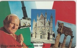 SCHEDA TELEFONICA NUOVA VATICANO SCV21 VIAGGI PAPA ITALIA - Vaticano
