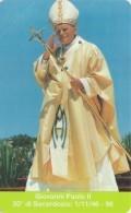 SCHEDA TELEFONICA NUOVA VATICANO SCV24  GIOVANNI PAOLO II - Vaticano