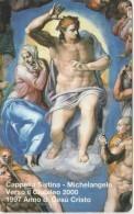SCHEDA TELEFONICA NUOVA VATICANO SCV34 CAPPELLA SISTINA - Vaticano