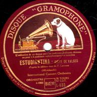 78 Trs - 30 Cm - état TB - ESTUDIANTINA - LES PATINEURS - International Concert Orchestra - 78 T - Disques Pour Gramophone