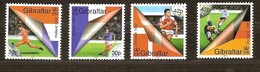 Gibraltar 2000 Yvertn° 906-909 *** MNH Cote 7,50 Euro Sport Football Euro 2000 - Gibraltar
