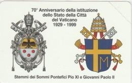 SCHEDA TELEFONICA NUOVA VATICANO SCV58 STEMMI PONTIFICI - Vaticano