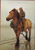 Grote Kaart Grand Format Garnaalvisser Te Paard Afgestempeld Koksijde Oostduinkerke (1978-1979) - Koksijde