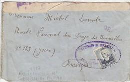 CARTA REGIMIENTO INFANTERIA COMISARIO POLITICO LOPEZ TIENDA Dese ALCUBIERRE ELA 81 - 1931-50 Lettres
