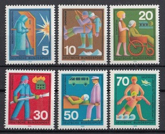 Germania 1970 Sc. 1022/1027  Servizi Sociali Gratuiti Germany MNH Full Set - Incidenti E Sicurezza Stradale