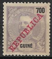 Portuguese Guinea - 1911 King Carlos Overprinted REPUBLICA 700 Réis - Portuguese Guinea